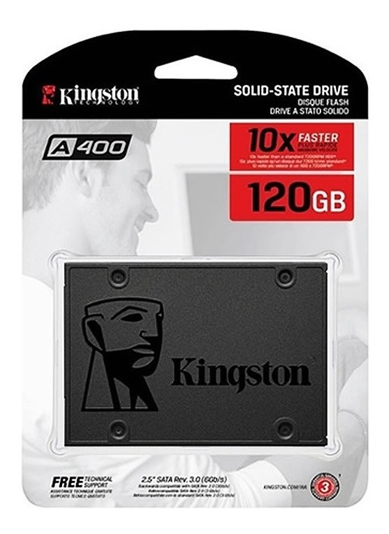 Disco Solido 120gb Kingston A400 Ssd 550mbps 2.5 Pulg Gtia