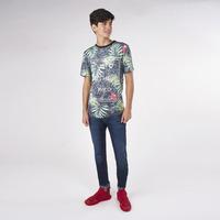 Camisa Verde Con Estampado Floral 019298
