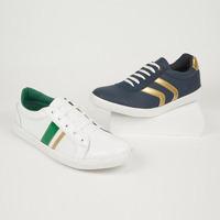 Combo sneakers blanco y azul 018609