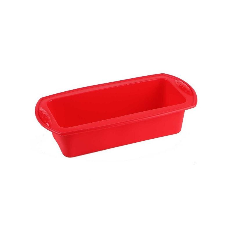 Assadeira Retangular Silicone p/ Paes e Bolos - Vermelha MOR