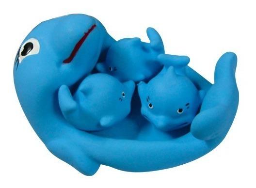 Set Delfines De Goma Atoxicos Para Baño Ideal Niños Bebe