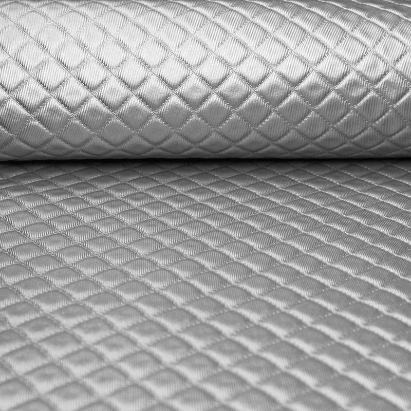 Tecido corino Djion Prata Larg. 1,40 m