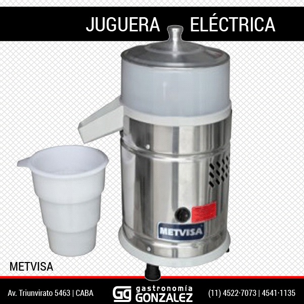 Juguera eléctrica Metvisa