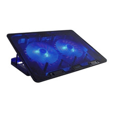 Base Para Notebook 2 Coolers Azules 13 A 17 Ng-z033 Noga