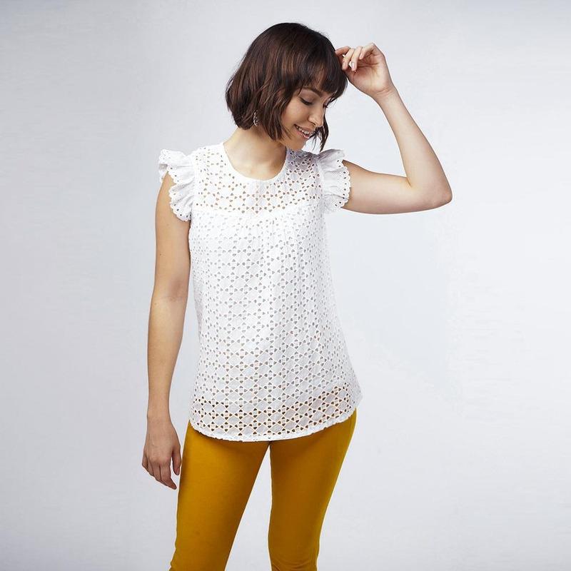Blusa Blanca Con Textura 017306