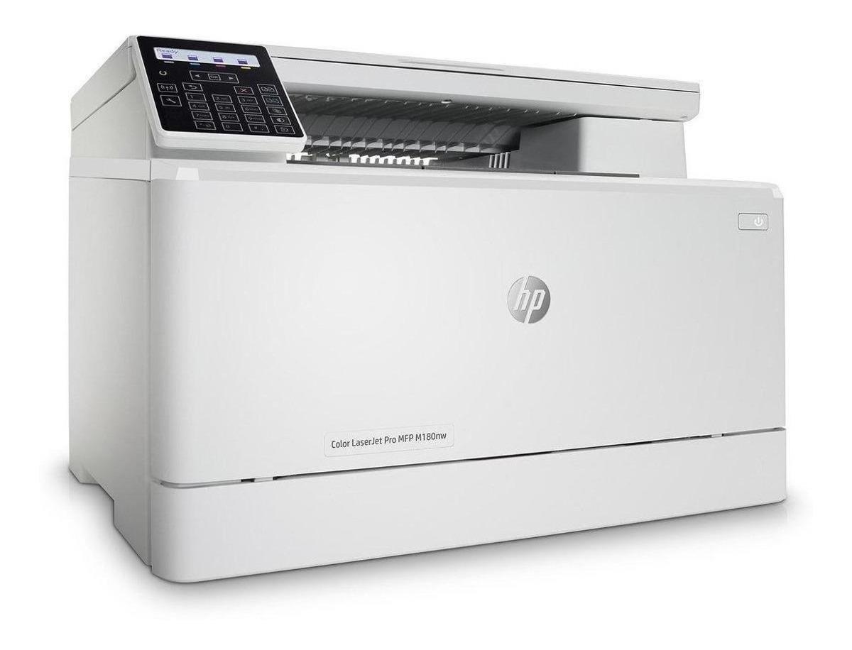 Impresora A Color Multifunción Hp Laserjet Pro M180nw Con Wifi 220v Blanca