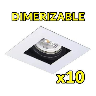 Pack X 10 Spot Antideslumbrante Blanco Dimerizable 7w
