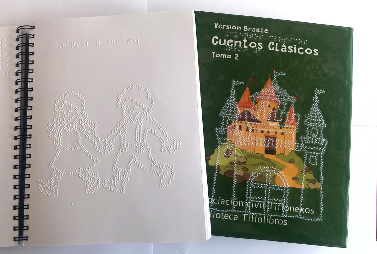 Libro impreso en braille de cuentos clásicos. Tomo 2