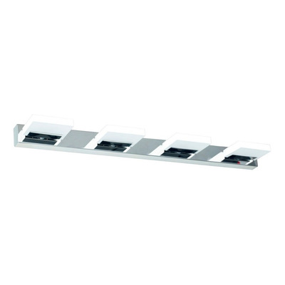 Aplique Pared 4 Luces 16w Acero Cromo Calidad Premium Tz