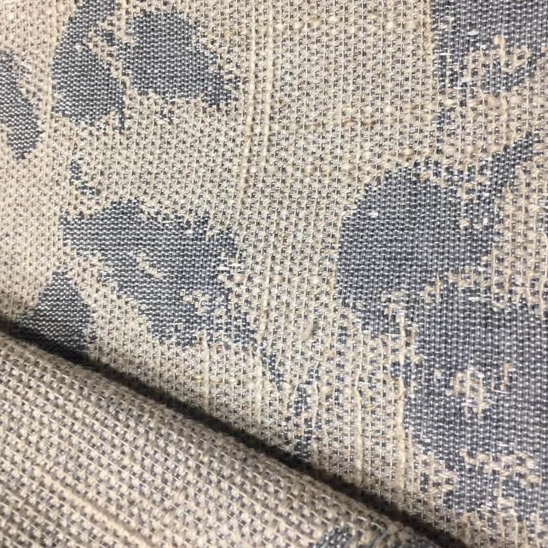 Tecido para estofado linho folhas rústico  Linen  08