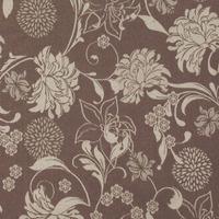 Tecido jacquard floral - bege/marrom - Impermeável - Coleção Panamá