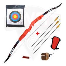 Arco Recurvo Prana Cadete 3 Flechas Fib Protector Cont Cera