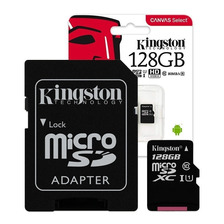 Memoria Micro Sd Kingston 128gb Clase 10 80mb/s Microsd Gtia