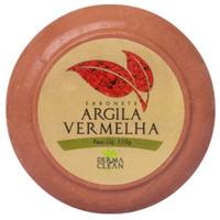 Sabonete Redondo de Argila Vermelha - 110g - Dermaclean
