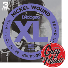 Encordado Daddario Exl115-3d Blues/jazz Rock