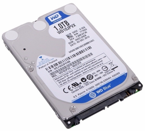 Disco Western Digital Scorpio Blue Sata 3 1tb 8mb Notebook