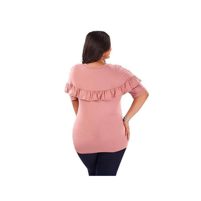 Blusa rosa estampada 014398P