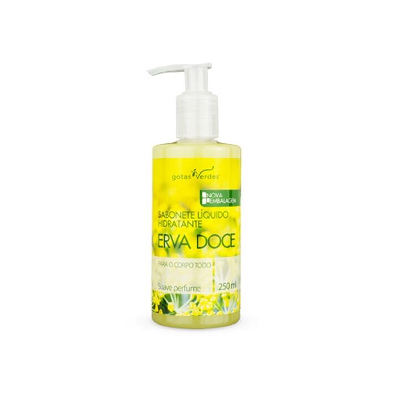 Sabonete Liquido Hidratante Erva Doce - 250ml - Gotas Verdes