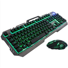Kit Teclado Y Mouse Usb Gamer Retroiluminado Nkb-96 Noga