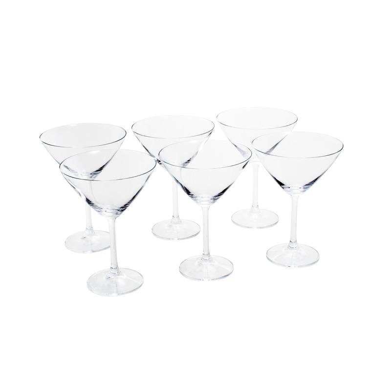 Jogo 6 Taças Gastro Martini 280ml Cristalina 3105329