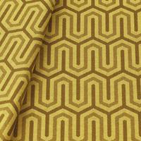 Tecido jacquard para almofada - amarelo/marrom - Impermeável - Coleção Panamá