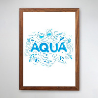 PÔSTER COM MOLDURA - AQUA