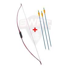 Arco Profesional Prana Long Bow Recurvo + 3 Flechas Aluminio