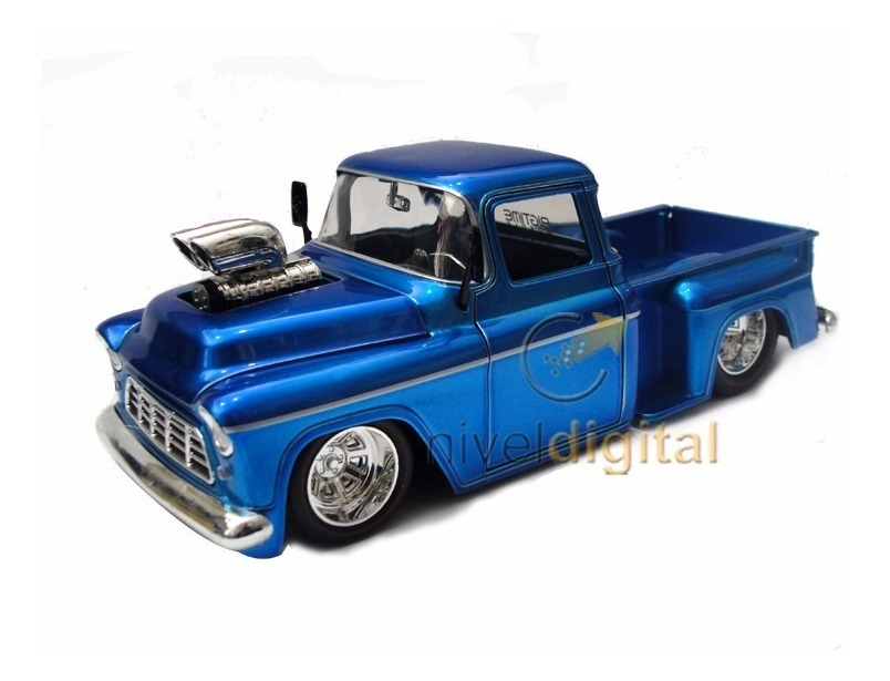 Auto Replica 1955 Chevy Stepside Pick Up Jada 1:24 Caja