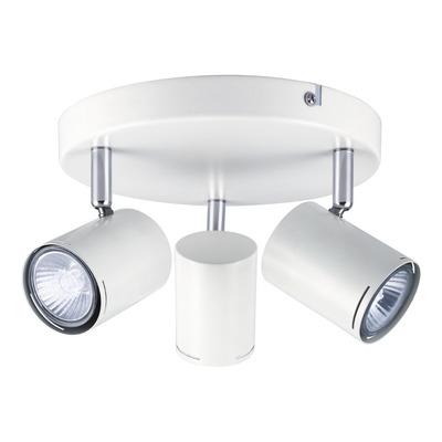 Aplique 3 Luces Blanco Cromo Moderno Apto Led U1023 Mks