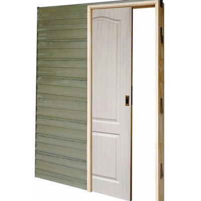 Puerta corrediza embutir craftmaster marco madera for Marco puerta madera