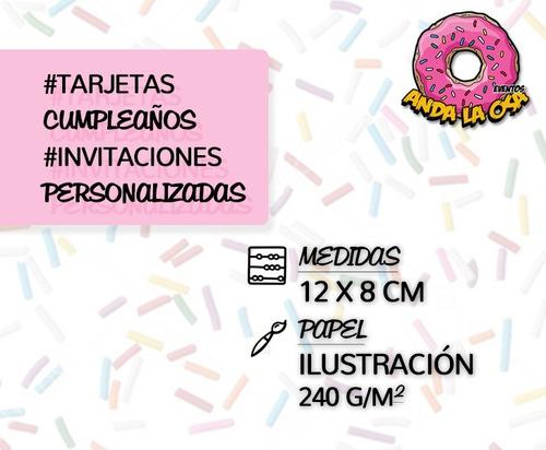 Tarjetas Invitaciones Cumpleaños Gravity Falls X 10uni En