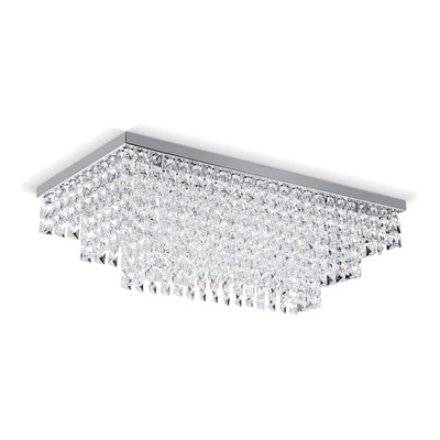 Lampara Plafon Lluvia Cristal Cairel Piazza 6 Luces Led Pal