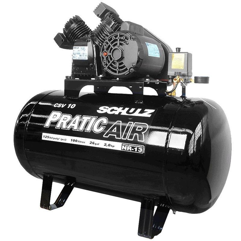 Compressor de Ar 100 Litros CSV 10/100 - Pratic Air 921.3528-0 - Schulz