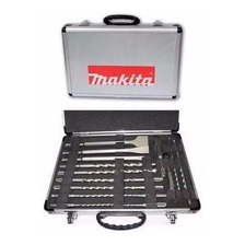 Juego Kit 17 Mechas + Puntas +cincel Sds Plus Makita D-19180