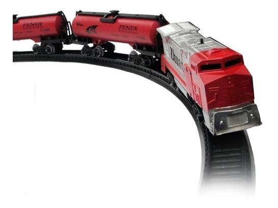 Tren Alta Performance Rojo Locomotora + 2 Vagones Accesorios