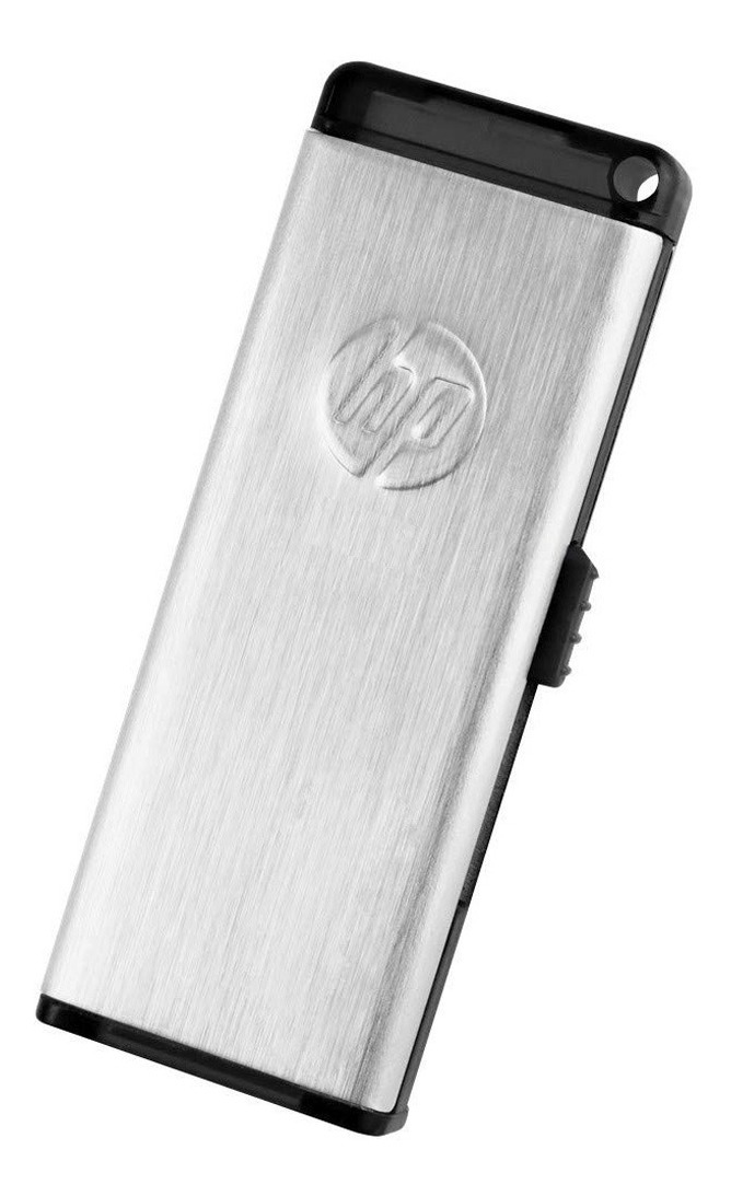Pendrive Hp 32gb V257w Metalico Usb 2.0 Retractil Pen Drive