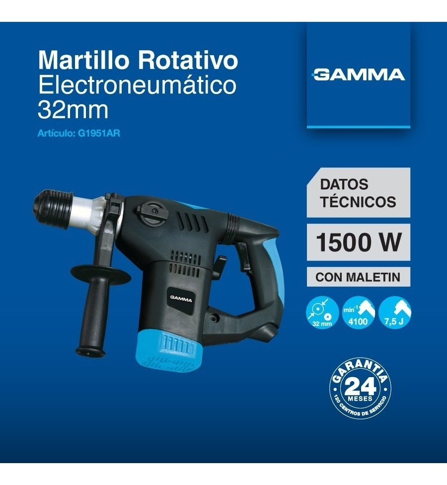 Martillo Rotativo Gamma Rotomartillo 1500w Hot Sale