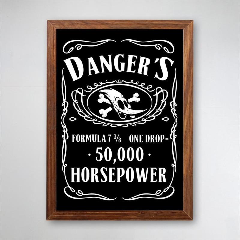 PÔSTER COM MOLDURA - HORSEPOWER