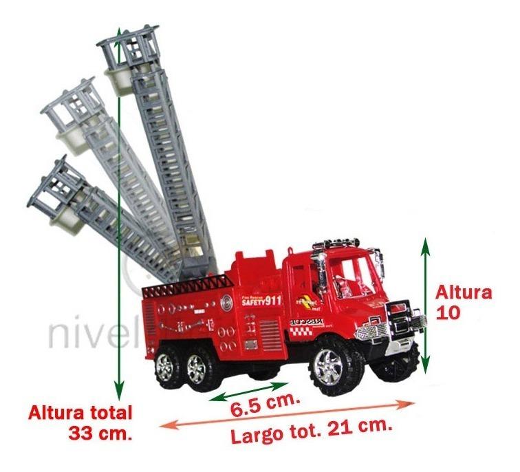 Camion Bombero A Friccion C/escalera Movil Retiro Floresta