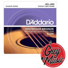Encordado Para Guitarra Acústica Daddario Strings Ej26 3d