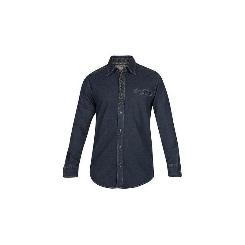 Camisa azul mezclilla manga larga  005070