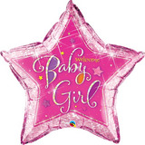 globo baby girl rosa 90cm desinflado apto helio