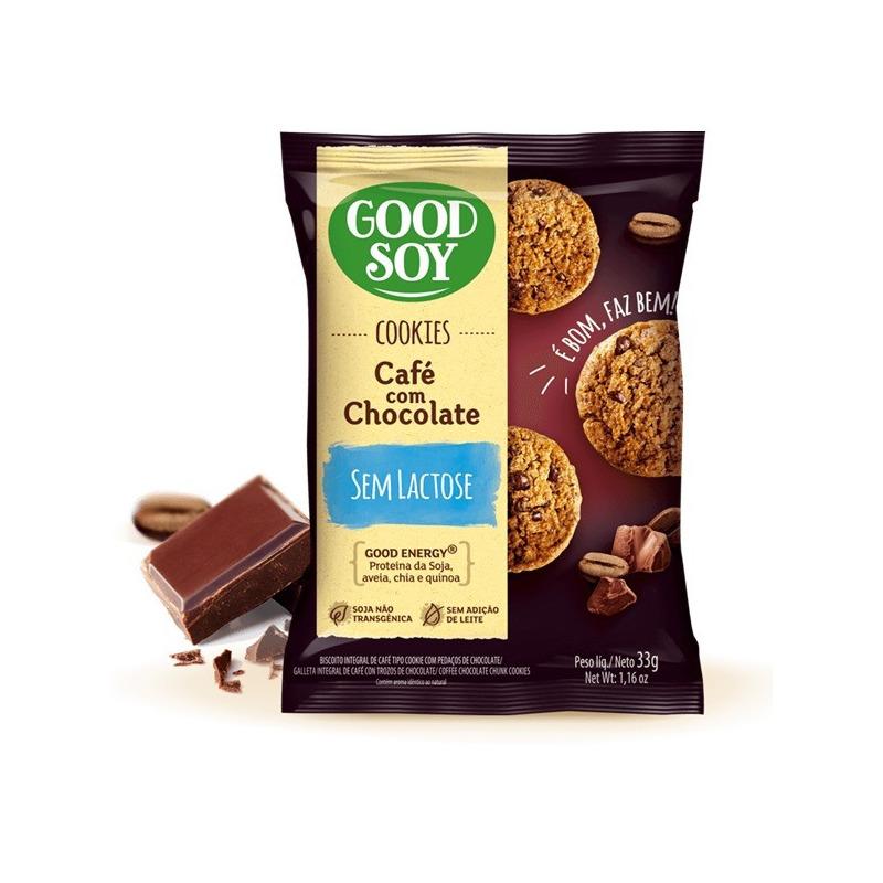 Cookies Integrais Soja Cafe c/ Gotas de Choc. 2X16g GoodSoy