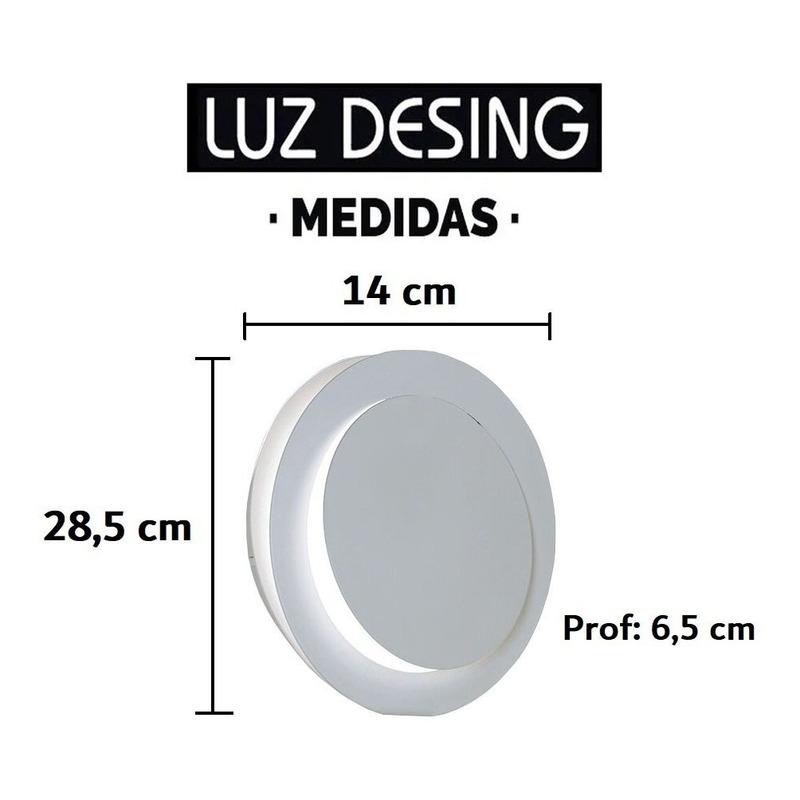 Aplique Difusor Pared Luz Led 3w Aluminio Calidad Premium Tz