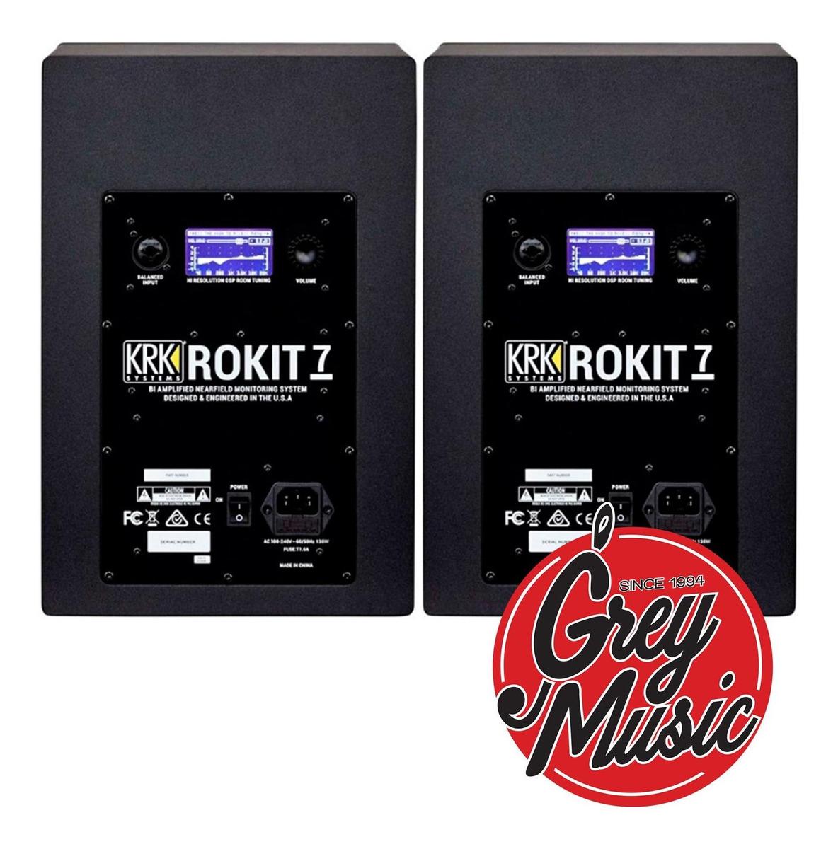 Monitor De Studio Krk Rp7g4 Rokit 7 Generacion 4 Color Negro