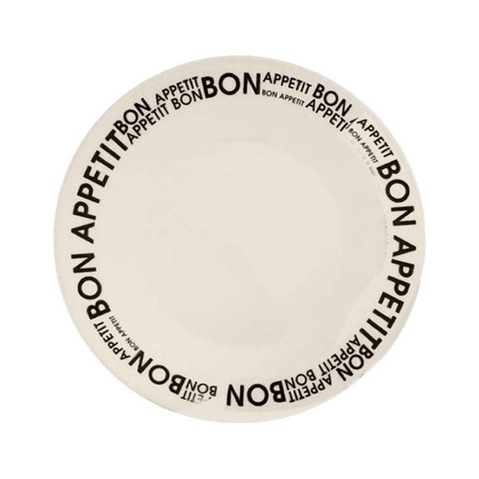 Set X9 Plato Playo Redondo Biona Bon Appetit Loza Decorado