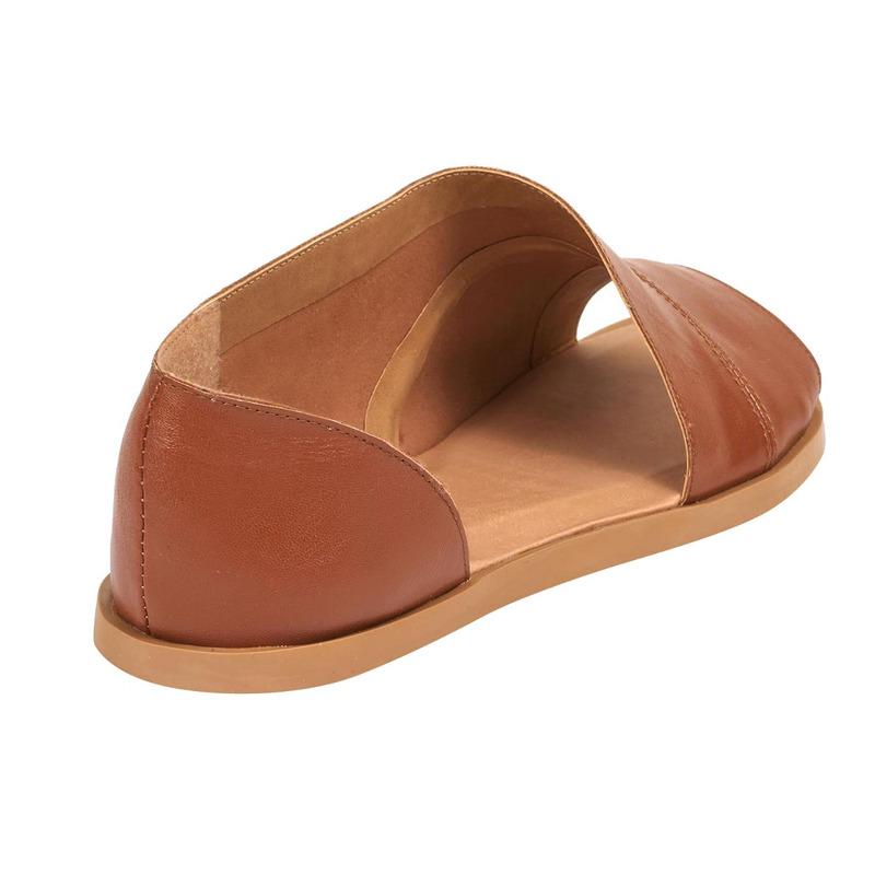 Sandalia piso camel piel 017375