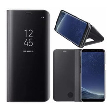 Funda Clear View Flip Cover Samsung Note 8 S8 Plus Standing