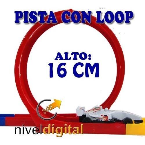 Pista Lanza Auto Con Loop Grande 2 Autos F1 Niño En Caja