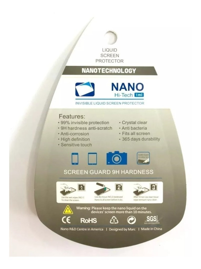 Vidrio Templado Liquido Glass Protector Nanotecnologia